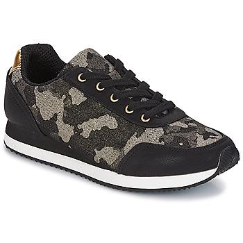 Schuhe Damen Sneaker Low André KIM Schwarz