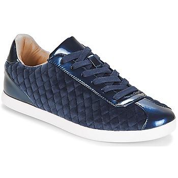 Schuhe Damen Sneaker Low André VELVET Blau