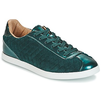 Schuhe Damen Sneaker Low André VELVET Grün