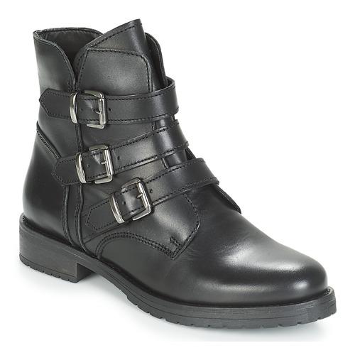 André TONYA Schwarz Schwarz Schwarz  Schuhe Boots Damen 006642