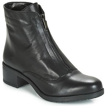 Schuhe Damen Low Boots André TAX Schwarz