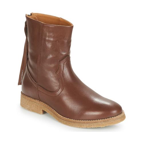 André THEO Braun  Schuhe Stiefel Damen