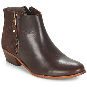 Schuhe Damen Boots André THAIS Braun