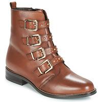 Schuhe Damen Boots André TODAY Braun