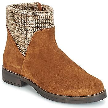 Schuhe Damen Boots André TRIAL Braun