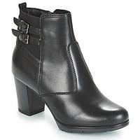 Schuhe Damen Low Boots André CARACAL Schwarz