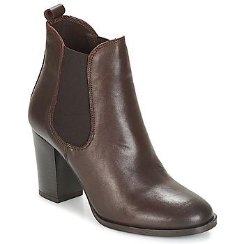 Schuhe Damen Low Boots André CLAFOUTI Braun