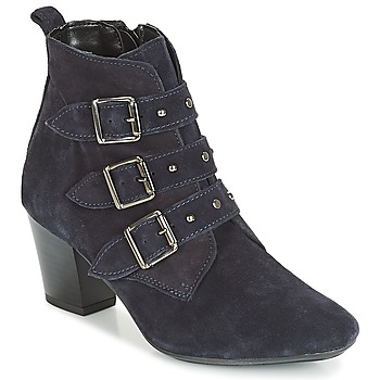 Schuhe Damen Low Boots André TRACY Blau
