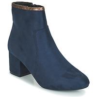 Schuhe Damen Boots André FALOU Blau