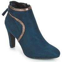 Schuhe Damen Low Boots André AUREL Blau