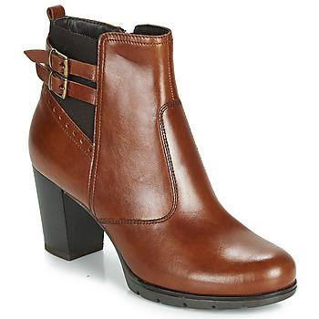 Schuhe Damen Low Boots André CARACAL Braun
