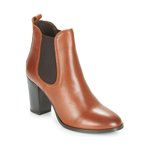 André CLAFOUTI Braun  Schuhe Low Boots Damen