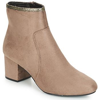 Schuhe Damen Boots André FALOU Beige