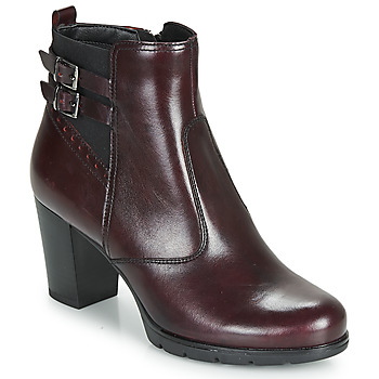 Schuhe Damen Low Boots André CARACAL Bordeaux