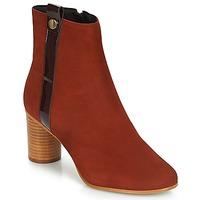 Schuhe Damen Low Boots André FILO Rot