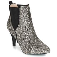Schuhe Damen Low Boots André APRIL Silbern