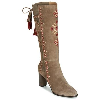 Schuhe Damen Klassische Stiefel André TATIANA Beige