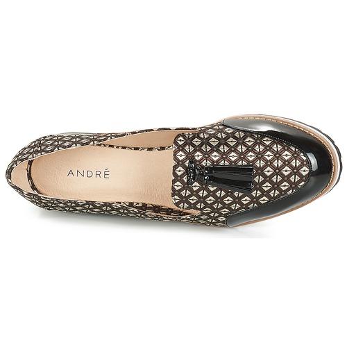 André EMOTION Braun Schuhe  Schuhe Braun Slipper Damen 59 674488