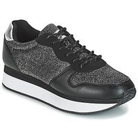 Schuhe Damen Sneaker Low André TYPO Schwarz / Silbern