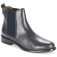 Schuhe Damen Boots André CARAMEL Blau