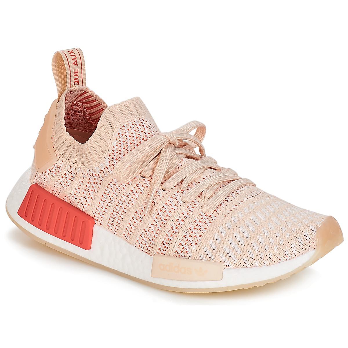 adidas Originals NMD R1 STLT PK W Weiss - Kostenloser Versand bei Spartoode ! - Schuhe Sneaker Low Damen 179,95 €
