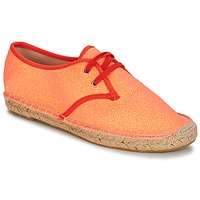 Schuhe Damen Leinen-Pantoletten mit gefloch André DANCEFLOOR Korallenrot