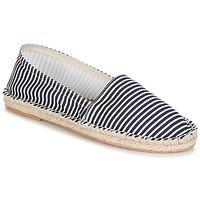 Schuhe Damen Leinen-Pantoletten mit gefloch André JAMAIQUE Gestreift / Blau