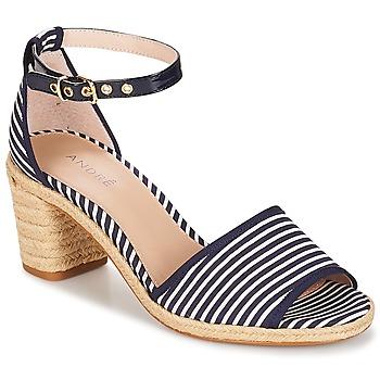 Schuhe Damen Sandalen / Sandaletten André JAKARTA Gestreift / Blau