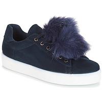 Schuhe Damen Sneaker Low André POMPON Blau