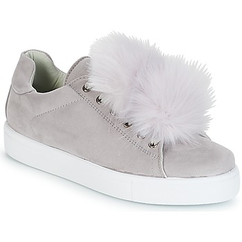 Schuhe Damen Sneaker Low André POMPON Grau