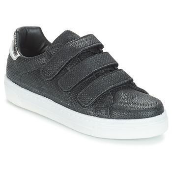 Schuhe Damen Sneaker Low André CARLINE Schwarz