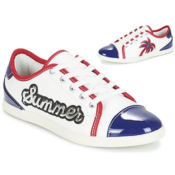 Schuhe Damen Sneaker Low André LIMONADE Weiss