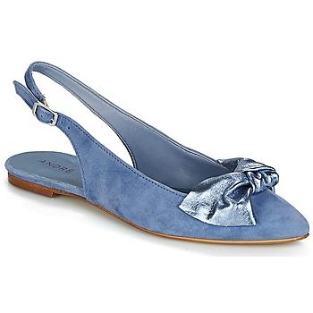 Schuhe Damen Ballerinas André LARABEL Blau