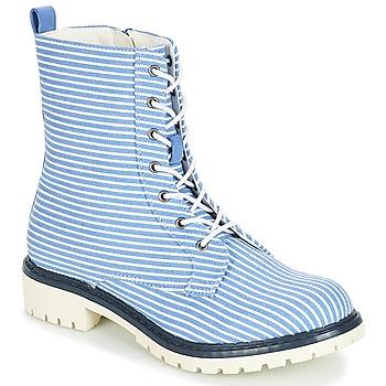 Schuhe Damen Boots André PRUNE Gestreift / Blau