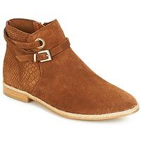 Schuhe Damen Boots André IDAHO Camel