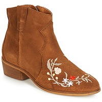 Schuhe Damen Boots André WEST Camel