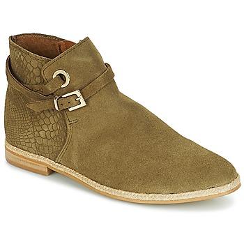Schuhe Damen Boots André IDAHO Kaki