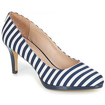 Schuhe Damen Pumps André CRYSTAL Gestreift / Blau