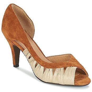 Schuhe Damen Pumps André PUNGI Camel