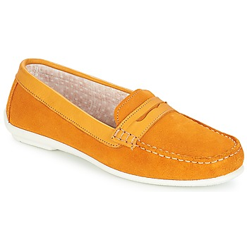 Schuhe Damen Slipper André FRIOULA Gelb