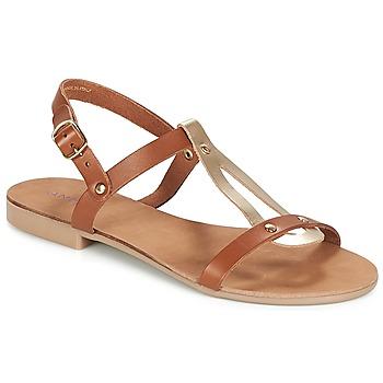 Schuhe Damen Sandalen / Sandaletten André TOUFOU Camel