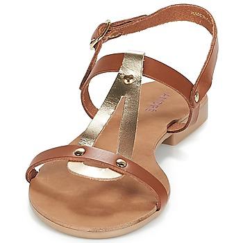 André TOUFOU Camel - Kostenloser Versand    - Schuhe Sandalen / Sandaletten Damen 3120