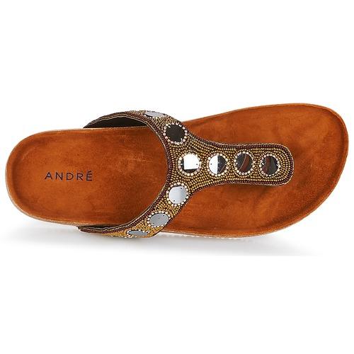 André PANDORE Braun  Schuhe Schuhe Schuhe Zehensandalen Damen 7c8ac7