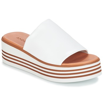 Schuhe Damen Pantoffel André LARRY Weiss