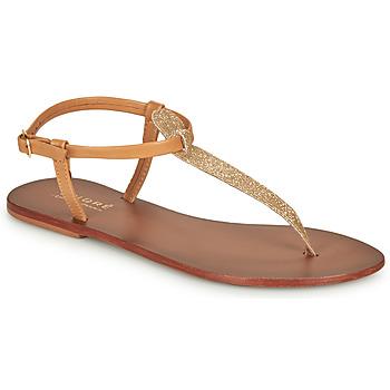 Schuhe Damen Sandalen / Sandaletten André GLITTER Camel