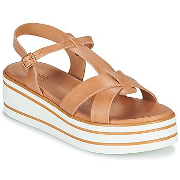 Schuhe Damen Sandalen / Sandaletten André LUANA Camel