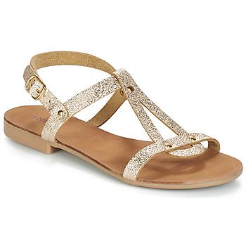 Schuhe Damen Sandalen / Sandaletten André TOUFOU Gold