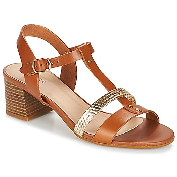 Schuhe Damen Sandalen / Sandaletten André ANTIGUA Camel