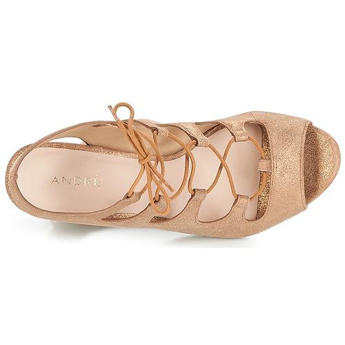 André LAETITIA Bronze  Schuhe Sandalen     Sandaletten Damen c3a30b
