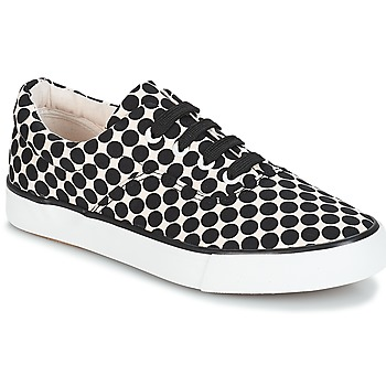 Schuhe Damen Sneaker Low André FUSION Pois / Schwarz